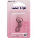 Hemline Swivel Clips In Bronze And Nickel - 13mm