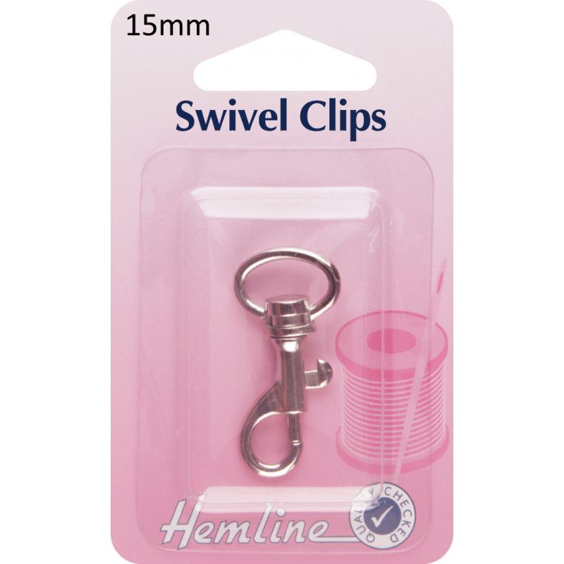 Hemline Swivel Clips In Bronze And Nickel - 15mm