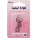 Hemline Swivel Clips In Bronze And Nickel - 20mm