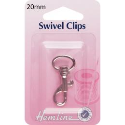 Hemline Swivel Clips In Bronze And Nickel - 20mm