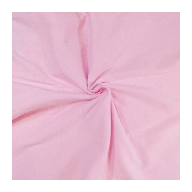 Pink Cotton Jersey Fabric Knitted