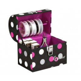 Options Polka Dot Hard Sided Crafter's Treasure Trunk Medium