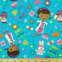 Doc McStuffins And Friends Cartoon 100% Cotton Fabric