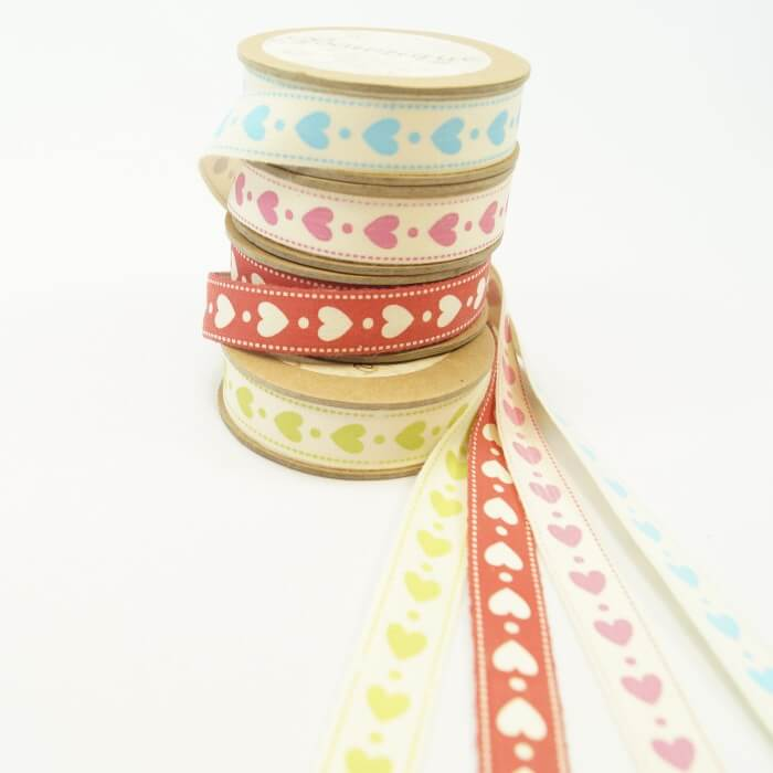 Bowtique Natural Vintage Cotton Polka Dot Spot Ribbon 15mm x 5m Reel