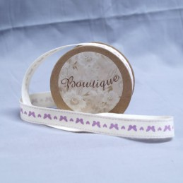 Bowtique Natural Vintage Cotton Birds Branch Ribbon 15mm x 5m Reel