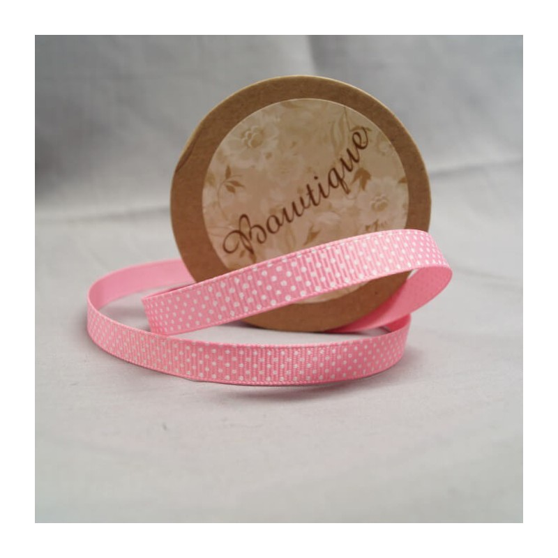 Bowtique Vintage Polka Dot Spot Satin Ribbon 15mm x 5m Reel