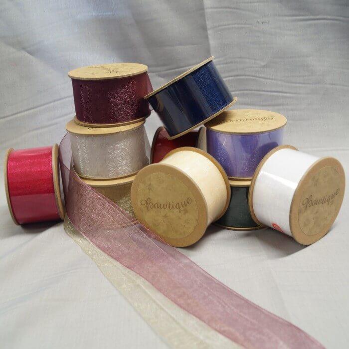 Bowtique Vintage Organdy Sheer Ribbon 36mm x 5m Reel