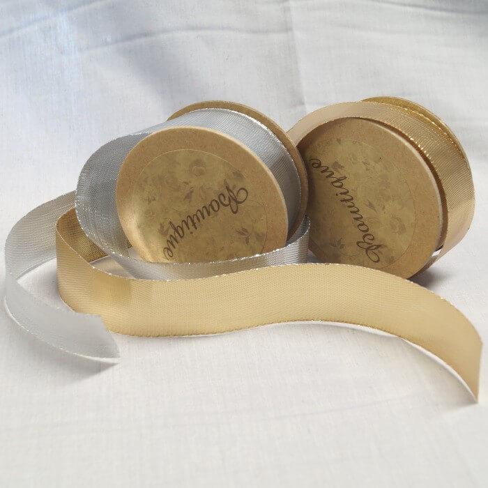 Bowtique Vintage Metallic Nylon Shimmer Ribbon 25mm x 5m Reel