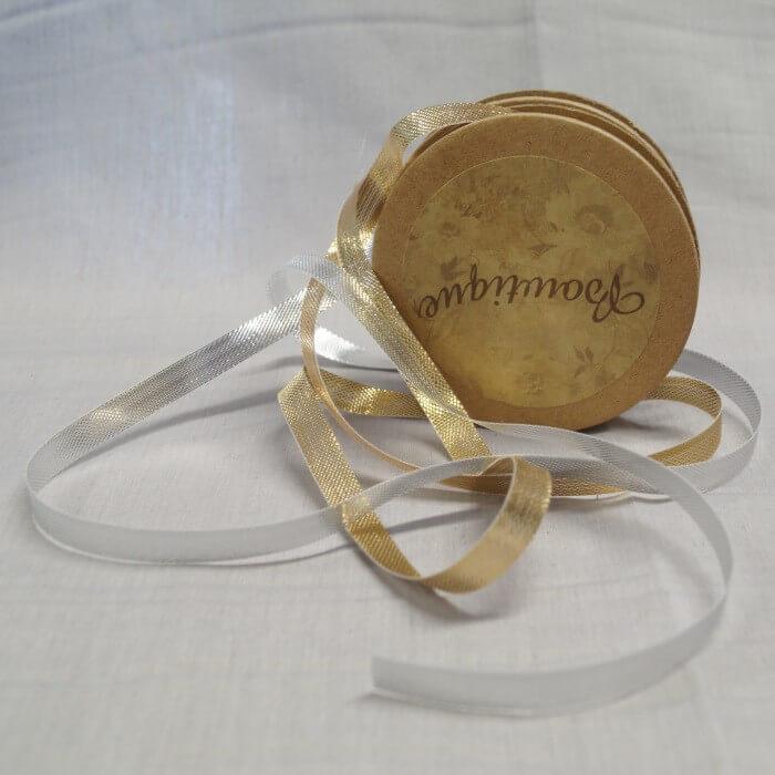 Bowtique Vintage Metallic Nylon Shimmer Ribbon 15mm x 5m Reel