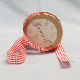 Bowtique Vintage Gingham Check Ribbon 15mm x 5m Reel