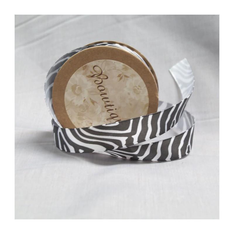 Bowtique Vintage Zebra Tiger Print Satin Ribbon 15mm x 5m Reel