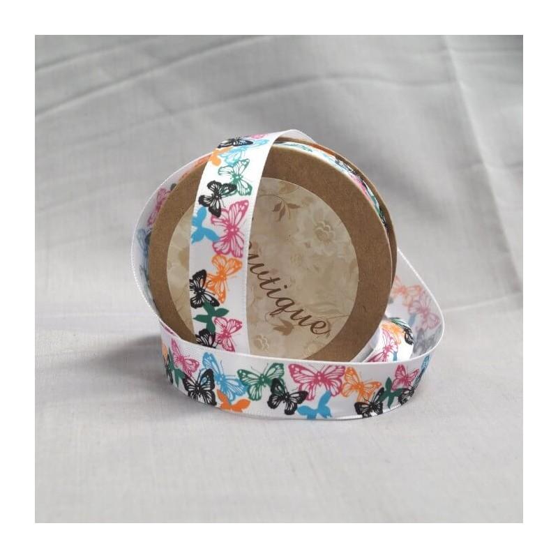 Bowtique Vintage Butterfly Satin Ribbon 15mm x 5m Reel