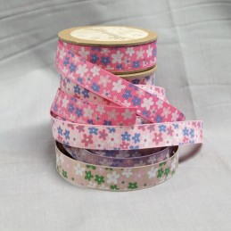 Bowtique Grosgrain Daisy Chain Floral Ribbon 15mm x 5m Reel