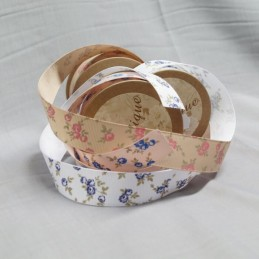 Bowtique Grosgrain Rose Heads Floral Ribbon 22mm x 5m Reel