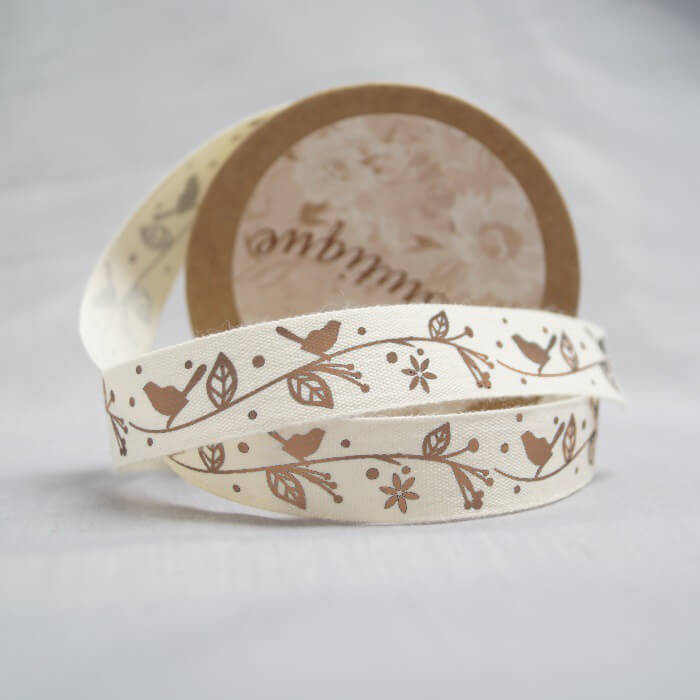 Bowtique Natural Vintage Cotton Button Stitch Ribbon 15mm x 5m Reel