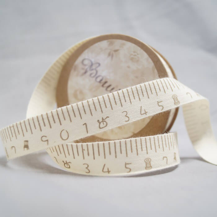 Bowtique Natural Cotton Hand Made Haberdashery Ribbon 15mm x 5m Reel