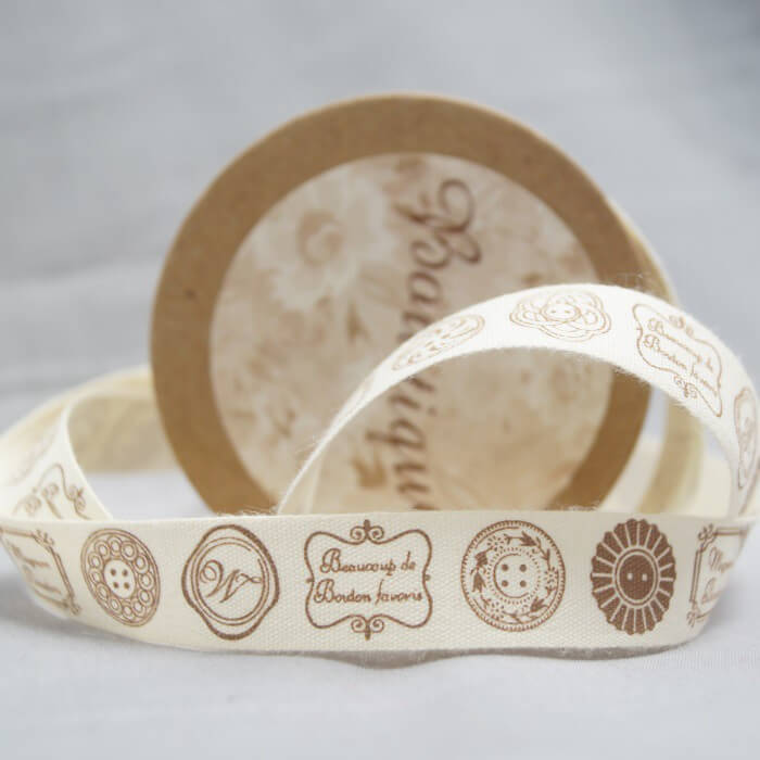 Bowtique Natural Cotton Hand Made Fonts Ribbon 15mm x 5m Reel