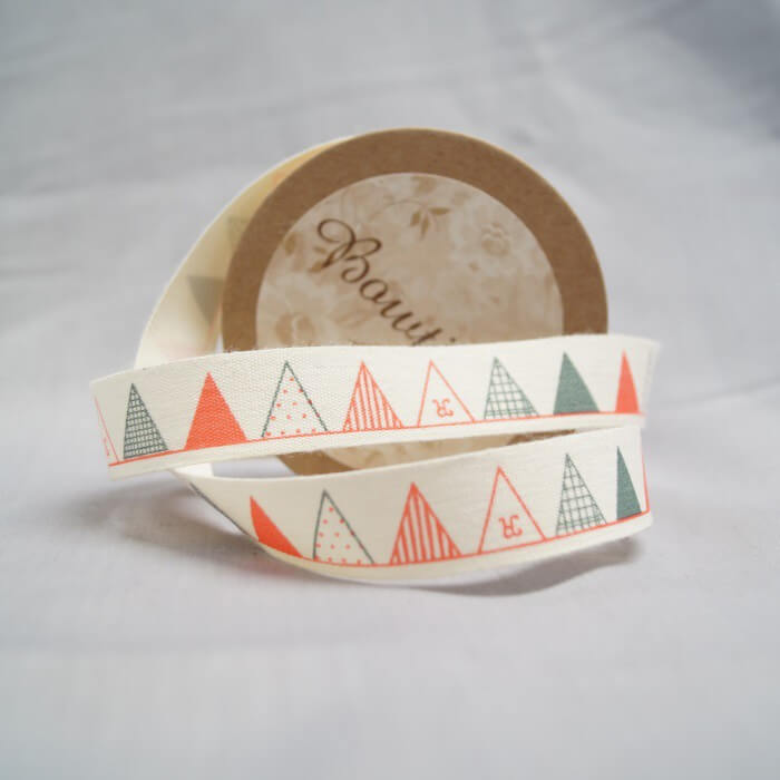 Bowtique Natural Cotton Buttons And Stamps Ribbon 15mm x 5m Reel