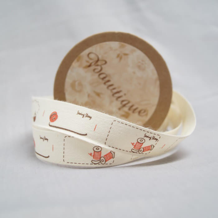 Bowtique Natural Cotton Bunting Flags Ribbon 15mm x 5m Reel