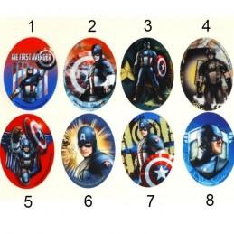 Captain America Woven Iron on Motif Applique