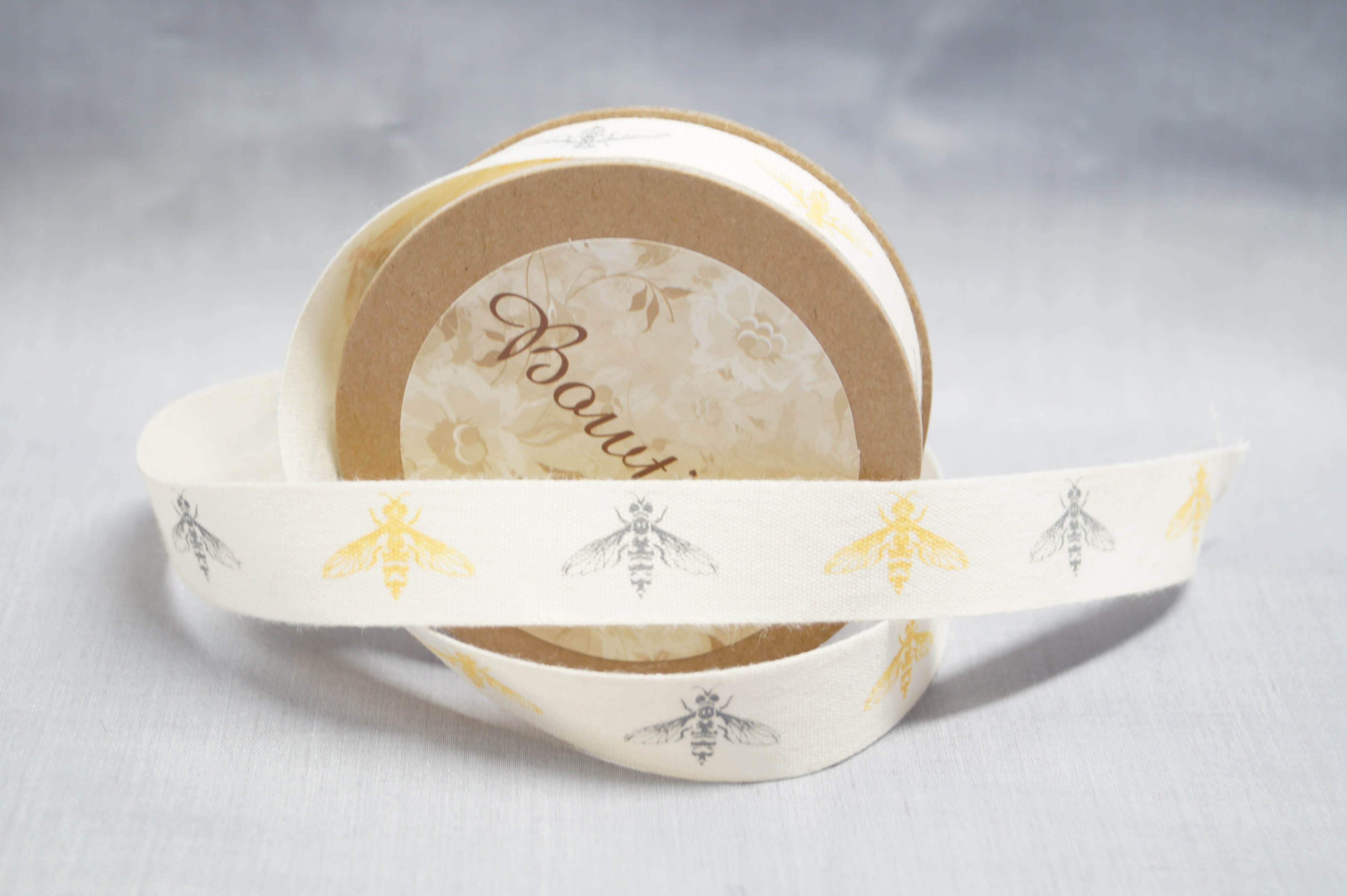 Bowtique Natural Cotton Hand Made Haberdashery Ribbon 15mm x 5m Reel