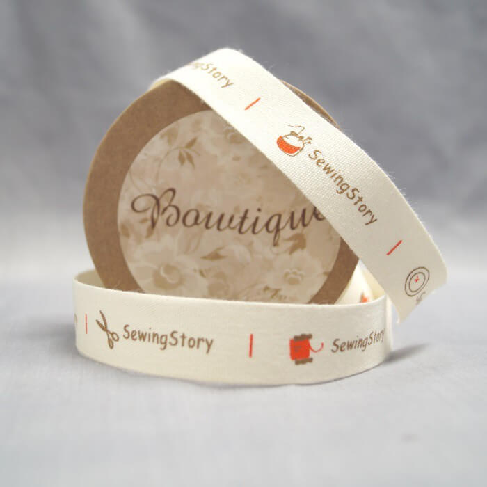 Bowtique Natural Cotton Sewing Story Ribbon 15mm x 5m Reel