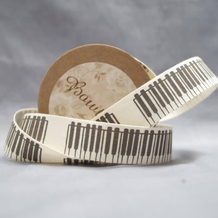Bowtique Natural Cotton Camera Travel Ribbon 20mm x 5m Reel