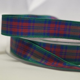 Berisfords Lindsay Scottish Woven Tartan Ribbon 7mm - 40mm