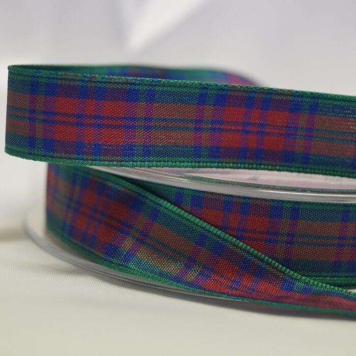 2 Metres Berisfords Lindsay Scottish Woven Tartan Ribbon 100% Polyester