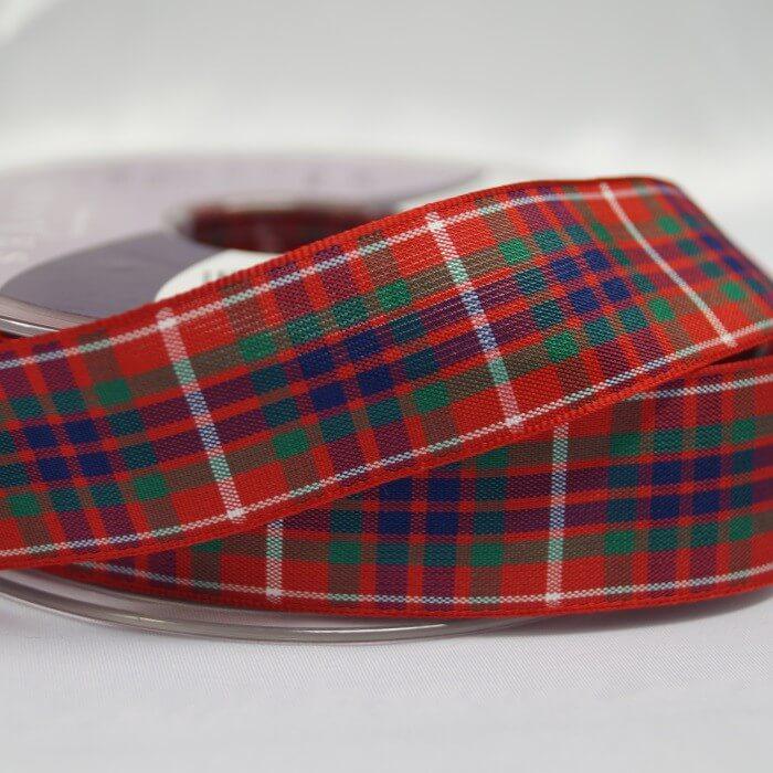 Berisfords Menzies Scottish Woven Tartan Ribbon 7mm - 70mm