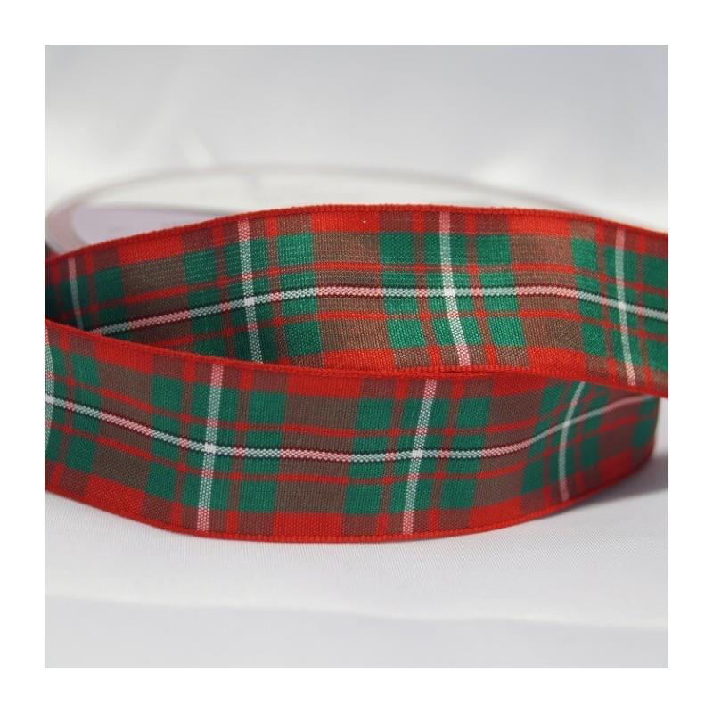 Tartan Ribbon by Berisfors UK Ltd  7mm 10mm 16mm 16 Scottish Approved Patterns