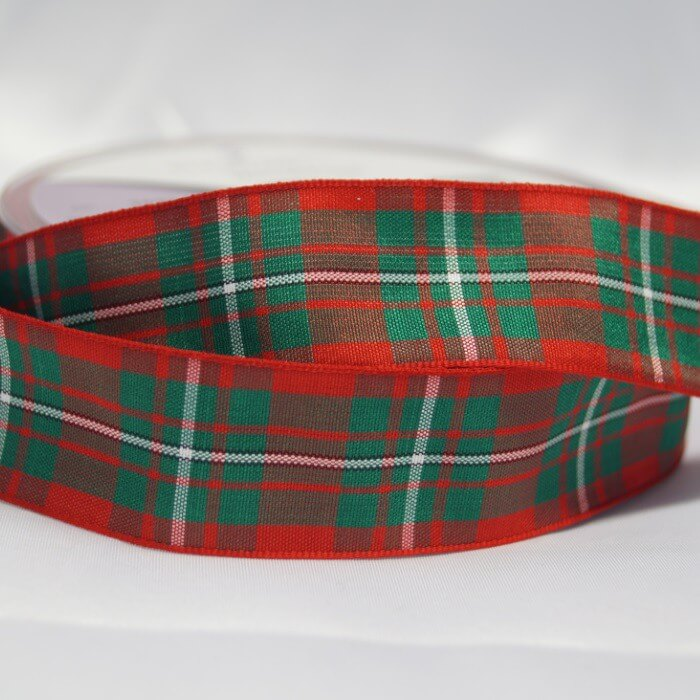Berisfords Campbell Scottish Woven Tartan Ribbon 7mm - 70mm
