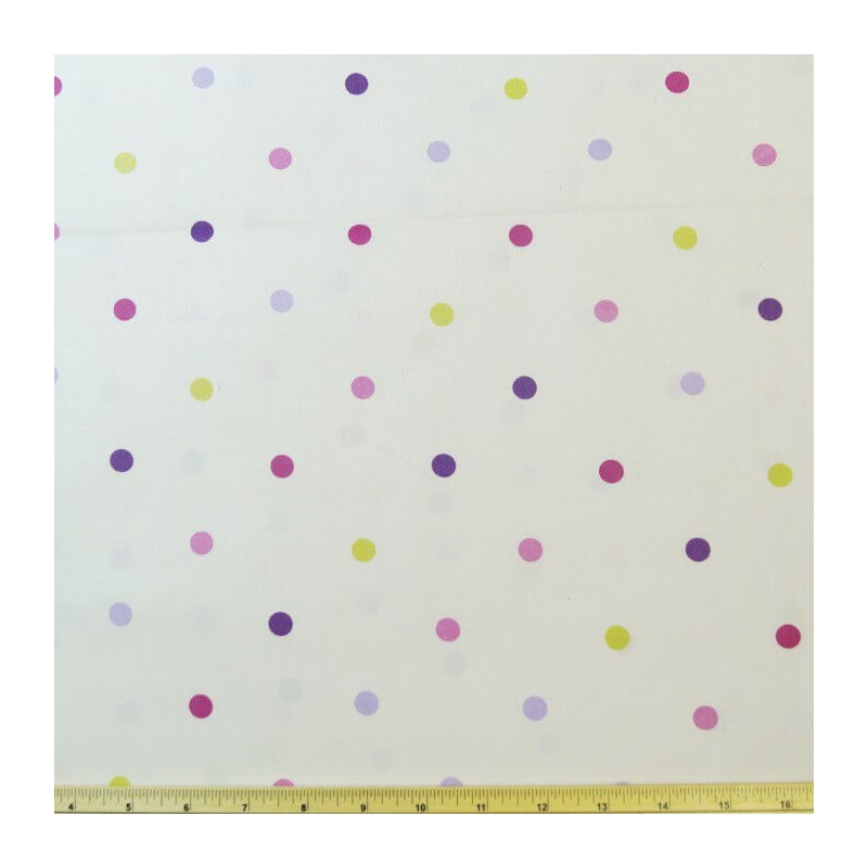 Berry 100% Cotton Fabric Lifestyle 10mm Multi Spots