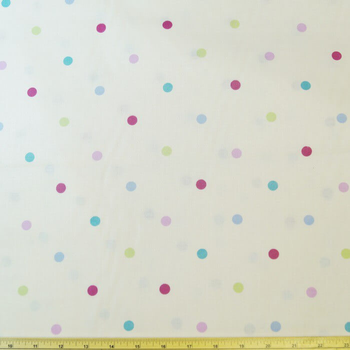 Candy 100% Cotton Fabric Lifestyle 10mm Multi Spots