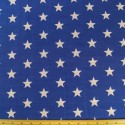Royal Blue Polycotton Fabric 27mm Stars