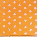 Orange Polycotton Fabric 27mm Stars