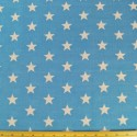 Blue Polycotton Fabric 27mm Stars