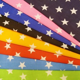 Polycotton Fabric 27mm Stars Starry Sky Star