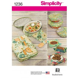Kitchen Accessories Simplicity Fabric Sewing Pattern 1236
