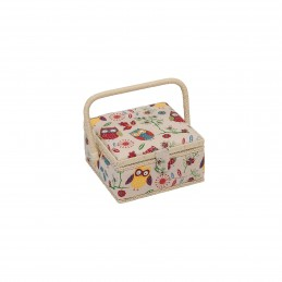 Spotted Chest Owl Small Value Sewing Craft Basket