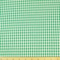 "Emerald Green 1/4"" Mini Check Gingham Squares 140cm 100% Cotton Fabric"