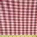 "Red 1/4"" Mini Check Gingham Squares 140cm 100% Cotton Fabric"