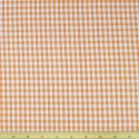 "Orange 1/4"" Mini Check Gingham Squares 140cm 100% Cotton Fabric"