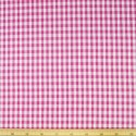 "Cerise 1/4"" Mini Check Gingham Squares 140cm 100% Cotton Fabric"