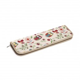 Spotted Chest Owls Value Knitting Pin Needle Storage Bag
