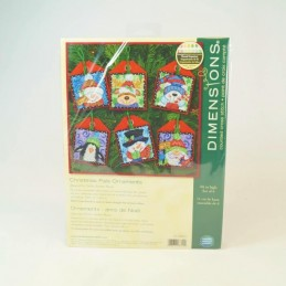 Tapestry Counted Cross Stitch Christmas Pals Ornaments Craft Kit