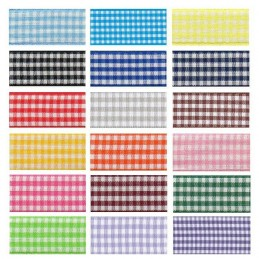 15mm Berisfords Check Gingham Polyester Craft Ribbon