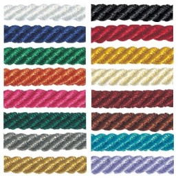 5mm x 2m, 5m or 20m Berisfords Barley Twist Rope Polyester Craft Ribbon