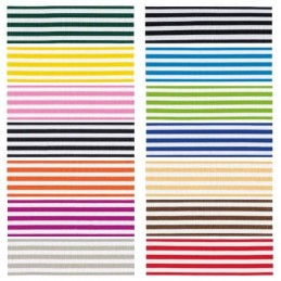 9mm x 2m, 5m or 20m Berisfords Pencil Stripes Polyester Craft Ribbon