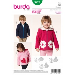 Burda Kids Jacket Trio Fabric Sewing Pattern 9425